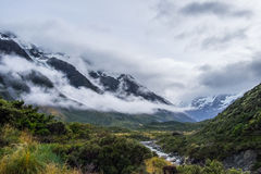 Hooker Valley Track in Mt.Cook National Park, New Zealand Stock Image