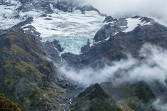 Hooker Valley Track in Mt.Cook National Park, New Zealand Stock Photography