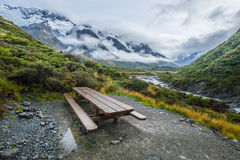 Hooker Valley Track in Mt.Cook National Park, New Zealand Royalty Free Stock Image