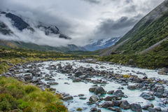 Hooker Valley Track in Mt.Cook National Park, New Zealand Royalty Free Stock Photos