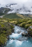 Hooker Valley Track in Mt.Cook National Park, New Zealand Stock Photo