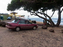 Hookipa beach Maui. World famous surfing spot, where the wind always blows Stock Photos