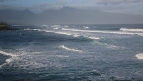 Hookipa Beach Park. View from Hookipa Beach Park - Maui, Hawaii stock video