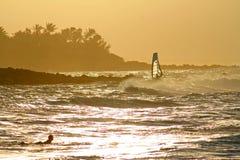 Hookipa sunset Stock Image