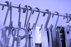 Hooks in the kitchen Royalty Free Stock Photos