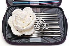 Hooks for knitting Stock Images