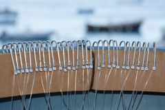 Hooks and longline. The old traditional method of longline fishing in the Mediterranean Royalty Free Stock Image
