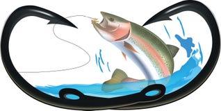 Hooks to heart fishing predatory fish Stock Photo