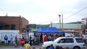 HOOKSTOWN PA - Circa August 24 2018 - A busy entrance to a county fair stock footage