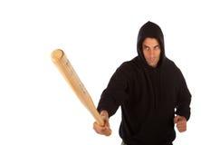 Hooligan with bat Royalty Free Stock Photos