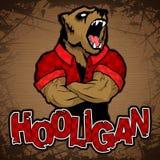 Hooligan-beer beeld op een houten achtergrond Royalty-vrije Stock Foto's