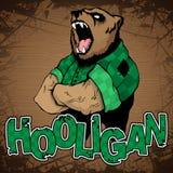 Hooligan-beer op een houten achtergrond Stock Foto's