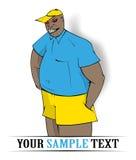 Hooligan boy color. Hooligan boy black in cartoon style Stock Images
