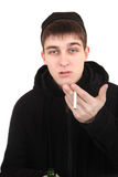 Hooligan with a Cigarette Stock Photography