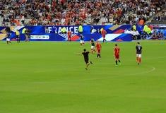 Hooligan at France-Belgium football match Royalty Free Stock Photos