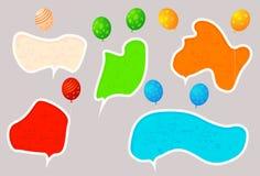 Hoolyday speech bubbles Stock Photography