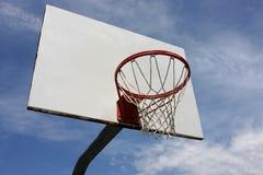 Hoop. Basketball hoop against blue sky Stock Image