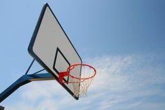 Hoop. Basketball hoop, street basketball under clear blue sky Royalty Free Stock Photos