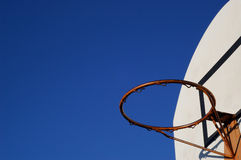 Hoop in the air. Red Basketball hoop under the sky Stock Images