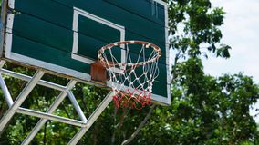 Hoop basketball. In the rural areas Stock Photo