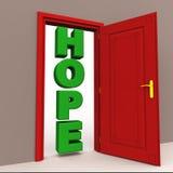 Hoop bij de deur Stock Foto