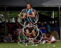 Hoop Dancer. Event: 35th Annual Intertribal Powwow Location: Honolulu, Hawai'i, 03-04.X.09 Subject: When Hawaiian hula dancer Erin Goedel heard that women could stock images