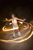 Hoop dancer performing. Stock Photo