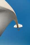 Hoop Dreams 2. An abstract look at a basketball hoop against a blue sky Stock Photography