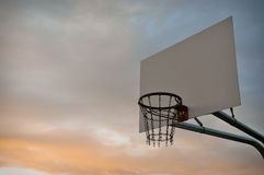Hoop Dreams - Basket Ball Court Stock Photo