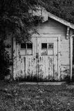 Hoop Dreams. Old shed with basketball hoop Royalty Free Stock Photography