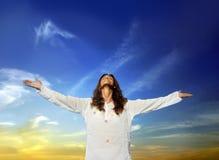 Hoop en gebeden Stock Foto's