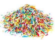 Hoop Kleurrijk Snoepje   het suikergoed bestrooit geïsoleerd op witte backgrou royalty-vrije stock fotografie