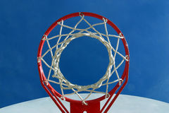 Hoop and net from below Stock Photos