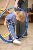 hoop paly dziecko Zdjęcie Royalty Free