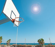 Hoop by the shore Stock Image