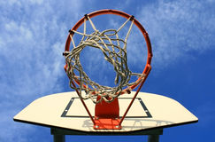 Hoop in the sky. Photo of a basketball hoop on a sunny day Stock Photography