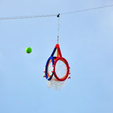 Hoop Takraw, Takraw ball with the official hoop Royalty Free Stock Images