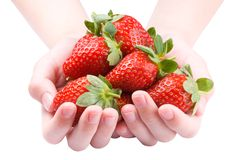 Hoop van aardbeien stock foto's
