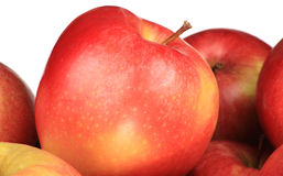Hoop van appelen op wit royalty-vrije stock fotografie