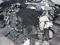 Hoop van asfalt stock foto