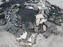 Hoop van asfalt stock afbeeldingen