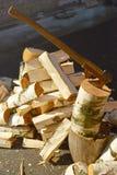 Hoop van berkbrandhout royalty-vrije stock fotografie