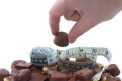 Hoop van chocolade royalty-vrije stock afbeeldingen