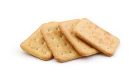 Hoop van crackers op witte achtergrond worden geïsoleerd die Stock Afbeelding