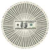 Hoop van dollarbankbiljetten Stock Afbeelding