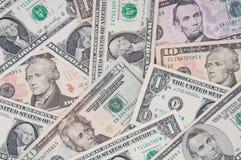 Hoop van dollars, geldachtergrond Royalty-vrije Stock Foto