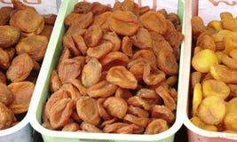 Hoop van droge abrikozenclose-up Stock Foto