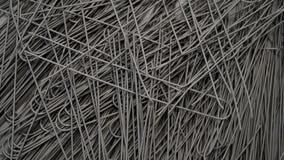 Hoop van Droge Ruwe Ongekookte Zwarte Spaghetti Overvloed van Italiaanse Deegwaren met Pijlinktvisinkt Hoogste mening stock footage