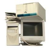 Hoop van gebruikte computers Stock Foto's