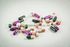 Hoop van geneeskundepillen Stock Foto